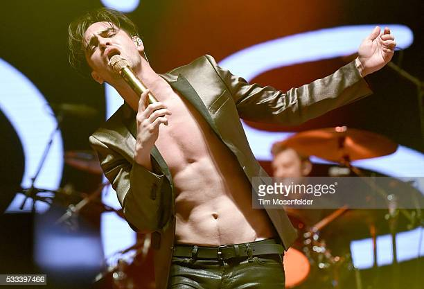 Brendon Urie of Panic at the Disco performs during the Hangout Music Festival on May 21 2016 in Gulf Shores Alabama