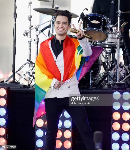 Brendon Urie of Panic At The Disco performs on NBC's Today at Rockefeller Plaza on June 29 2018 in New York City
