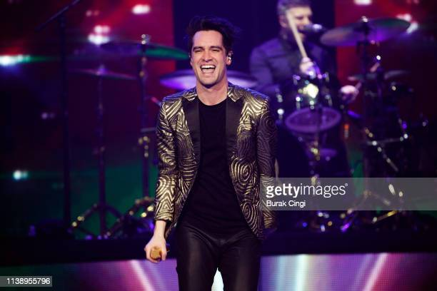 brendon urie of panic at the disco performs on stage at the o2 arena picture