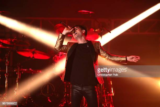 Brendon Urie of Panic at the Disco performs onstage at KROQ Weenie Roast 2018 at StubHub Center on May 12 2018 in Carson California
