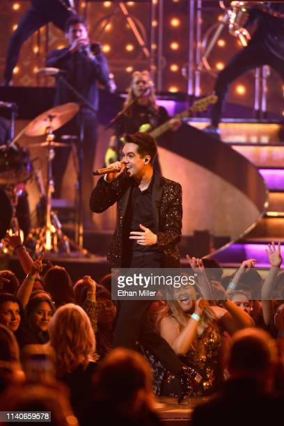 Brendon Urie of Panic at the Disco performs onstage during the 2019 Billboard Music Awards at MGM Grand Garden Arena on May 1 2019 in Las Vegas Nevada