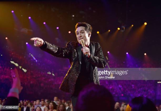 Brendon Urie of Panic! at the Disco performs onstage during the 2019 Billboard Music Awards at MGM Grand Garden Arena on May 1, 2019 in Las Vegas,...