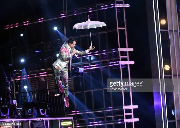Brendon Urie of Panic at the Disco performs onstage during the 2019 Billboard Music Awards at MGM Grand Garden Arena on May 01 2019 in Las Vegas...