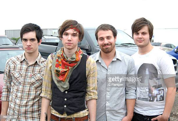 Brendon Urie Ryan Ross Jon Walker and Spencer Smith of Panic at the Disco at the Virgin Festival By Virgin Mobile 2007 at Pimlico Race Course on...
