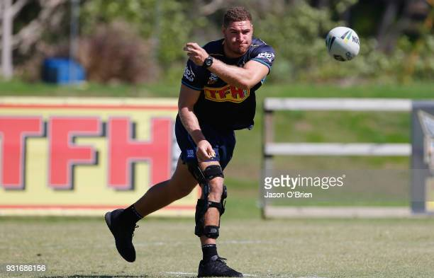 Brenko Lee during a Gold Coast Titans NRL training session at Parkwood on March 14 2018 in Gold Coast Australia