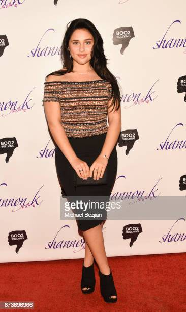 Brenna D'amico arrives at Voices of Tomorrow Shannon K Album Launch for 'Perpetual' at The Peppermint Club on April 26 2017 in Los Angeles California