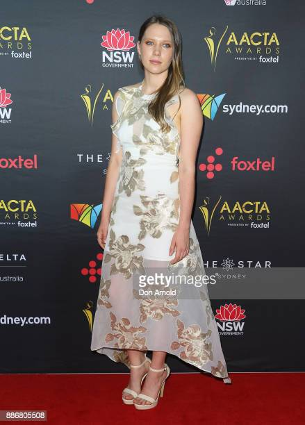 Brenna Harding poses during the 7th AACTA Awards at The Star on December 6 2017 in Sydney Australia