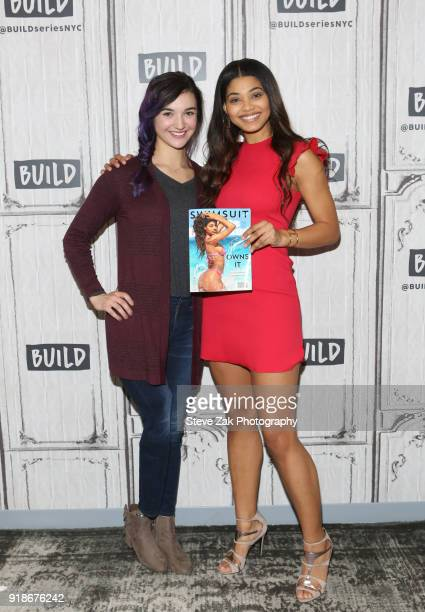 Brenna Huckaby and Danielle Herrington attend Build Series to discuss Sports Illustrated Swimsuit Issue at Build Studio on February 15 2018 in New...