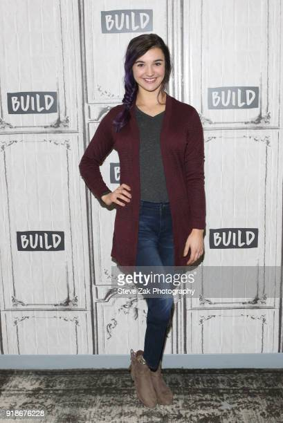 Brenna Huckaby attends Build Series to discuss Sports Illustrated Swimsuit Issue at Build Studio on February 15 2018 in New York City