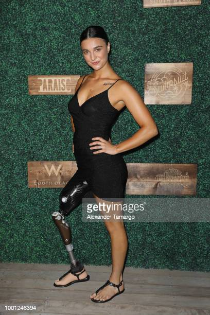 Brenna Huckaby attends the 2018 Sports Illustrated Swimsuit show at PARAISO during Miami Swim Week at The W Hotel South Beach on July 15 2018 in...