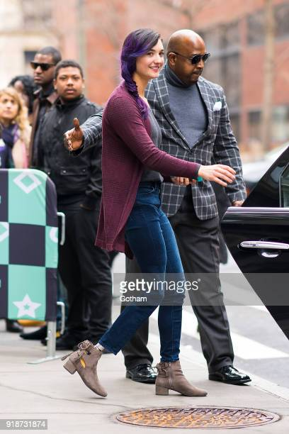 Brenna Huckaby is seen in NoHo on February 15 2018 in New York City