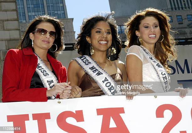 Brenna Katheleen Sakas Miss Arizona USA Adriana Diaz Miss New York USA and Jessica Boyington Miss New Jersey USA