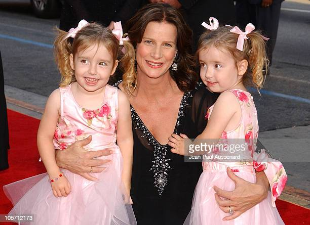 Brenna Tosh Rachel Griffiths and Bronwyn Tosh during HBO's Six Feet Under Season 5 Premiere at Chinese Theater in Hollywood California United States