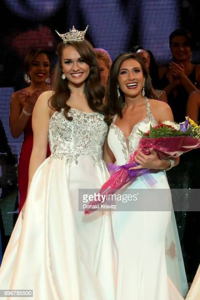 Brenna Weick Miss New Jersey 2016 and Amanda Rae Ross Miss Seashore Line tied for winner in the 'Talent' competition at the 2017 Miss New Jersey...