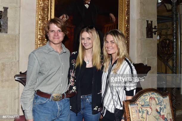 Brennan Balson Lydia Hearst and Amanda Hearst attend Hearst Castle Preservation Foundation Associate Trustees' Tour at Hearst Castle on September 28...