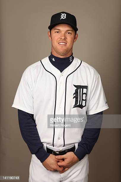 Brennan Boesch of the Detroit Tigers poses during Photo Day on Tuesday February 28 2012 at Joker Marchant Stadium in Lakeland Florida