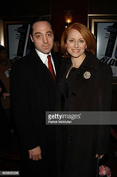 Brennan Brown and Jenna Stern attend 16 Blocks red carpet inside arrivals at Ziegfeld NYC USA on February 27 2006