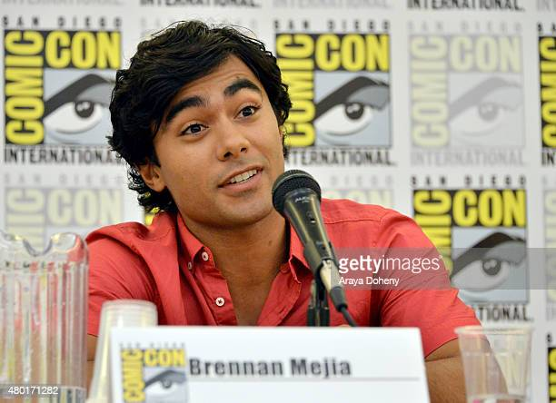 Brennan Mejia from Saban's Power Ranger Dino Charge participates in the official San Diego ComicCon Power Rangers panel at the San Diego Convention...