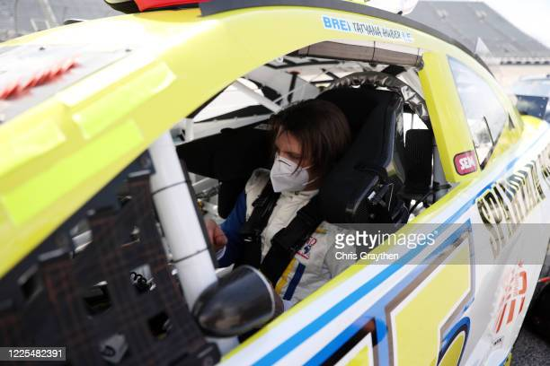 Brennan Poole driver of the SpartanGO Chevrolet prepares to drive during the NASCAR Cup Series The Real Heroes 400 at Darlington Raceway on May 17...