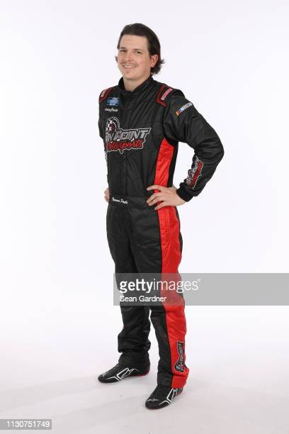Brennan Poole poses for a photo at Daytona International Speedway on February 15 2019 in Daytona Beach Florida