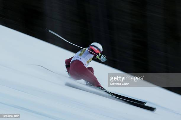 Brennan Rubie of the United States races down the Saslong course during the Audi FIS Alpine Ski World Cup Men's Super G on December 16 2016 at Val...