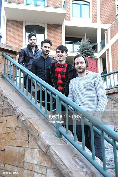 Brennan Strawn Brian Willett Joel Plotnik Brent Kutzle of Monarch attend the Sundance ASCAP Music Cafe during the 2014 Sundance Film Festival on...