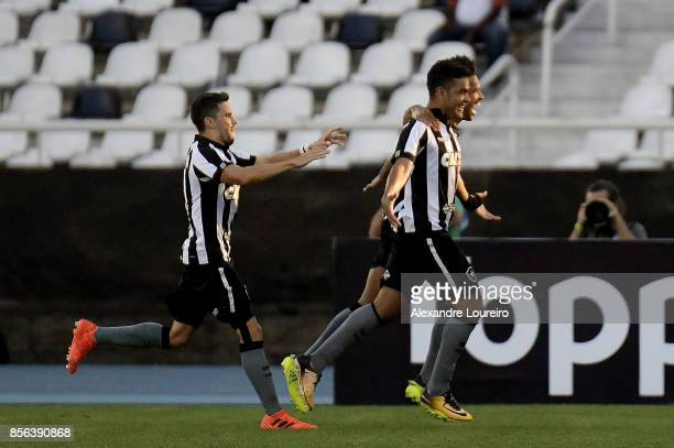 Brenner of Botafogo celebrates a second scored goal during the match between Botafogo and Vitoria as part of Brasileirao Series A 2017 at Engenhao...