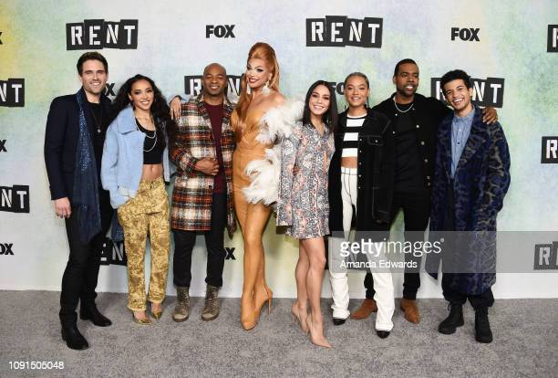 Brennin Hunt Tinashe Brandon Victor Dixon Valentina Vanessa Hudgens Kiersey Clemons Mario and Jordan Fisher attend Fox's 'Rent' press junket at the...