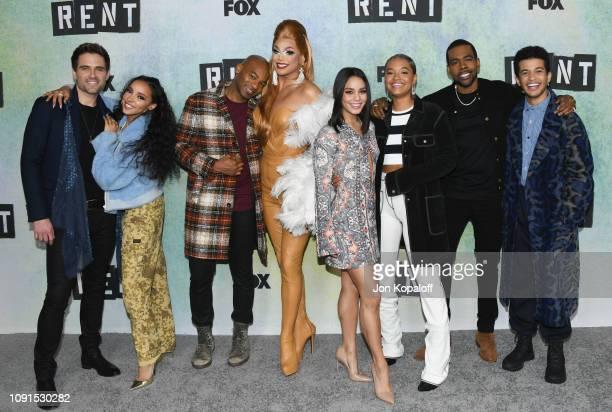 Brennin Hunt Tinashe Brandon Victor Dixon Valentina Vanessa Hudgens Kiersey Clemons Mario and Jordan Fisher attend FOX Hosts 'RENT' Press Junket at...