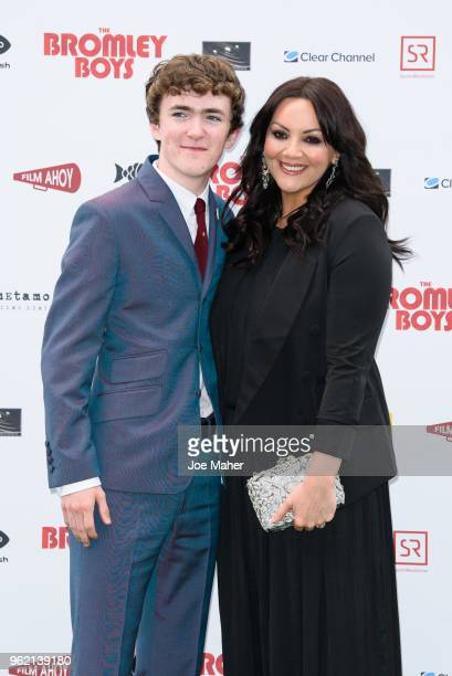 Brenock O'Connor and Martine McCutcheon attend 'The Bromley Boys' UK premiere held in The Great Room at Wembley Stadium on May 24, 2018 in London,...