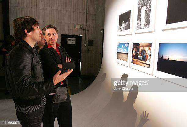 Brent Bolthouse and Robert Downey Jr during Brian Bowen Smith Brent Bolthouse and Brandon Boyd Art and Photography Show at Quixote Studios at Quixote...
