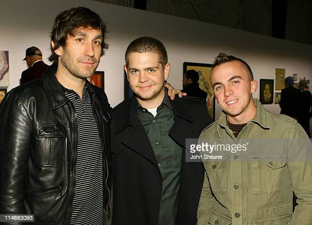 Brent Bolthouse Jack Osbourne and Frankie Muniz during Brian Bowen Smith Brent Bolthouse and Brandon Boyd Art and Photography Show at Quixote Studios...