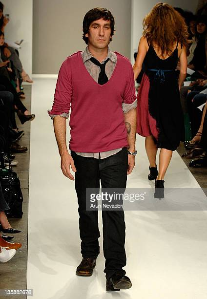 Brent Bolthouse walks the runway at The Evidence of Evolution Spring 2008 fashion show during Mercedes Benz Fashion Week held at Smashbox Studios on...