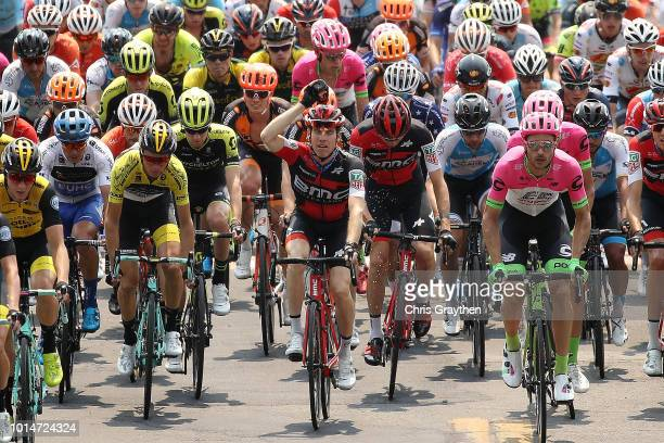 Brent Bookwalter of The United States and BMC Racing Team / Sepp Kuss of the United States and Team LottoNL - Jumbo Yellow leader jersey / Jack Haig...