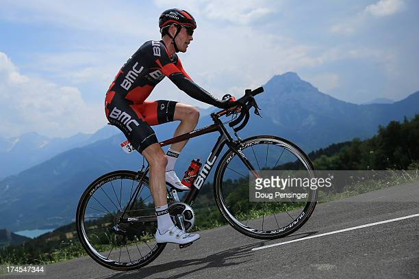 Brent Bookwalter of the United States riding for BMC Racing competes during stage seventeen of the 2013 Tour de France, a 32KM Individual Time Trial...