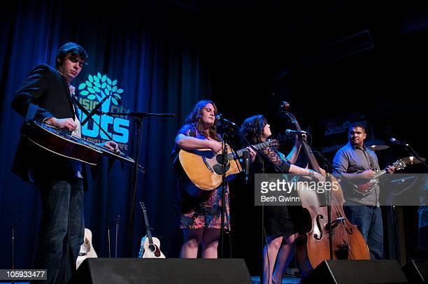 Brent Burke Sally Berry Tensel Sandker and Michael Morrison of The Next Best Thing peform at The Loveless Barn on October 19 2010 in Nashville...