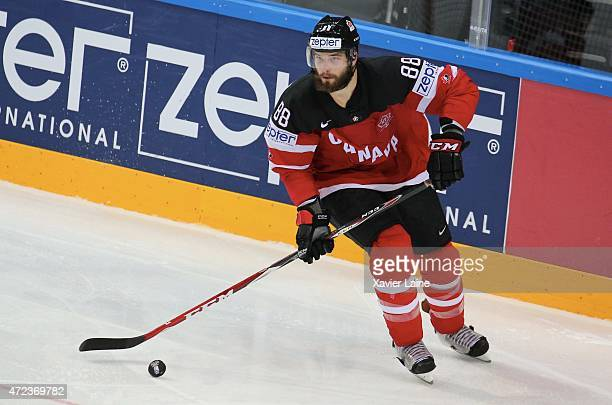 Brent Burns of Canada in action during the 2015 IIHF World Championship between Sweden and Canada at O2 arena on May 62015 in PragueCzech Republic