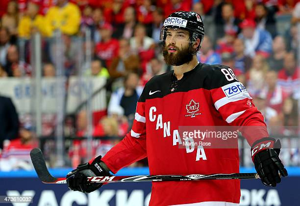 Brent Burns of Canada skates against Czech Republic during the IIHF World Championship semi final match between Canada and Czech Republic at O2 Arena...