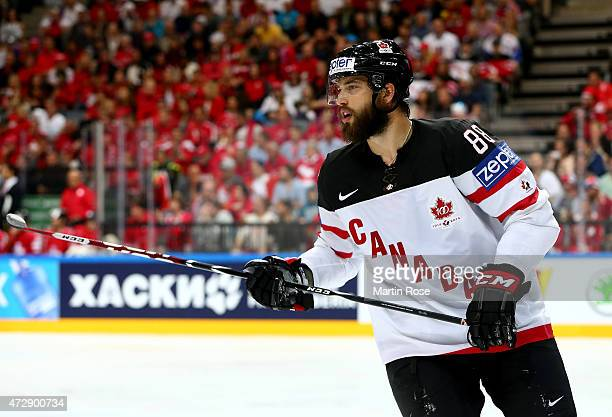 Brent Burns of Canada skates against Switzerland during the IIHF World Championship group A match between Switzerland and Canada at o2 Arena on May...