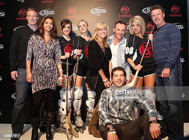 Brent Burns of the Minnesota Wild and others arrive on the red carpet at the Versus NHL All Star after party following the 2011 NHL AllStar Game at...