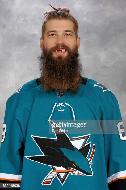 Brent Burns of the San Jose Sharks poses for his official headshot for the 201718 season on September 14 2017 at Sharks Ice in San Jose California