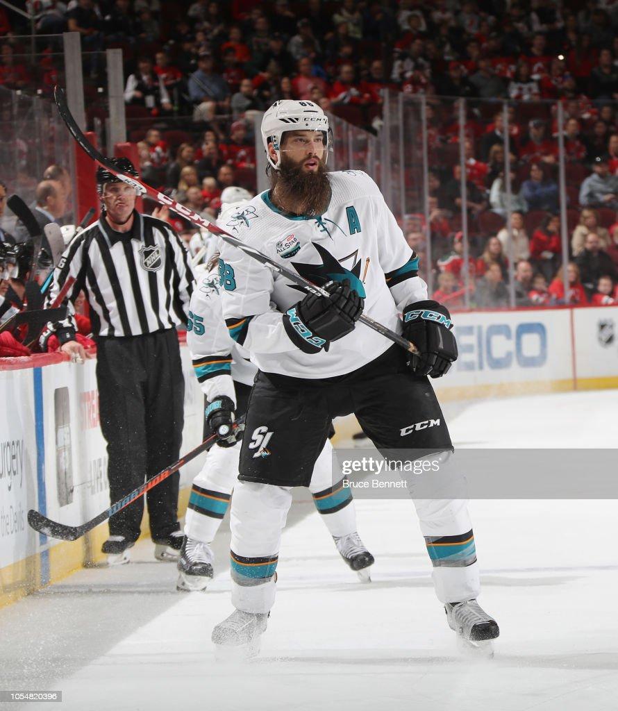 info for eef0d 3af9f Brent Burns of the San Jose Sharks skates against the New ...