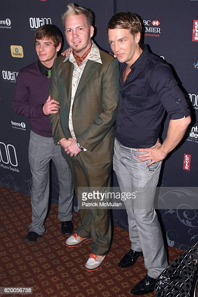 Brent Corrigan Todd Stephens and guest attend 15th Annual OUT100 Awards Presented by BRISTOLMYERS SQUIBB at Gotham Hall on November 14 2008 in New...