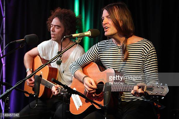 Brent DeBoer and Courtney TaylorTaylor from the band The Dandy Warhols perform at Radio Staion 1045 iHeartRadio Performance Theater May 30 2012 in...