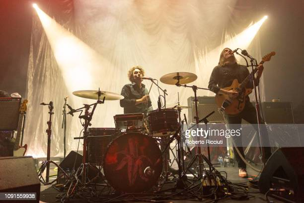 Brent DeBoer and Courtney TaylorTaylor of The Dandy Warhols perform on stage at Glasgow's Old Fruitmarket on January 30 2019 in Glasgow Scotland