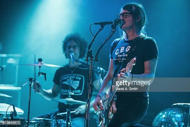 Brent DeBoer and Courtney TaylorTaylor of The Dandy Warhols perform at Saturn Birmingham on October 10 2016 in Birmingham Alabama