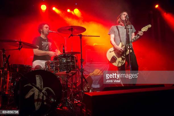 Brent DeBoer and Courtney TaylorTaylor of The Dandy Warhols perform on stage at Sala Apolo on February 11 2017 in Barcelona Spain