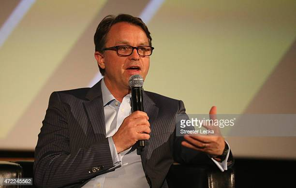 Brent Dewer NASCAR Chief Operating Officer speaks during the 20152016 NASCAR Next Class at NASCAR Hall of Fame on May 5 2015 in Charlotte North...