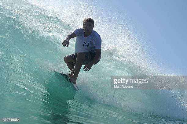 Brent Dorrington surfs at Snapper Rocks ahead of this month's Gold Coast Quiksilver Pro on February 17 2016 on the Gold Coast Australia