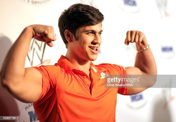 Brent Ferrigno arrives at the WWE SummerSlam Kickoff Party held at the Tropicana Bar at The Hollywood Rooselvelt Hotel on August 13 2010 in Hollywood...